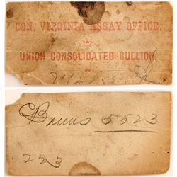 Bullion Label for the Con. Virginia Assay Office