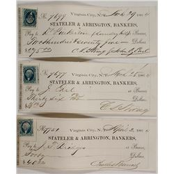 Stateler & Arrington Bankers Checks (3)