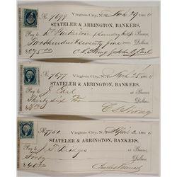 Stateler & Arrington Bankers Checks (3)