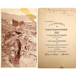 Rare Virginia City, Nevada Cabinet Card Photo of Mill