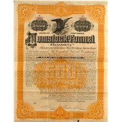 The Comstock Tunnel Company Bond (Sutro Tunnel) 1889