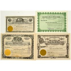 Central Nevada Mining Stock Certificates