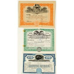 National and Mountain City, Nevada Mining Stock Certificates