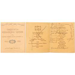 Invitation to 1935 Newark Mineralogical Society Event