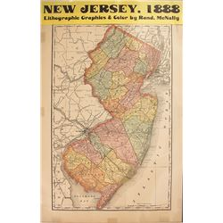 Map of New Jersey (Includes Zinc Mines)
