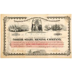 North State Mining Company Stock Certificate 2
