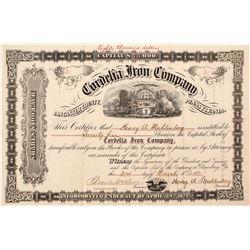 Cordelia Iron Company Stock Certificate