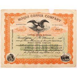 Moqui Copper Company Stock Certificate
