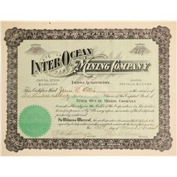 Inter Ocean Mining Company Stock Certificate