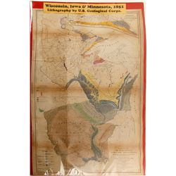 Geological Map of Wisconsin, Iowa & Minnesota