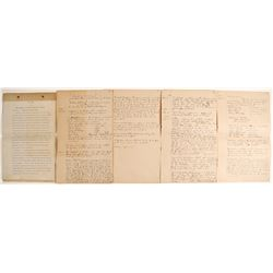 Sidney Gold Mining Co. Corporate Minutes, 1898