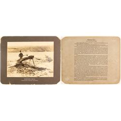 """Classic """"Washing Gold"""" Cabinet Card"""