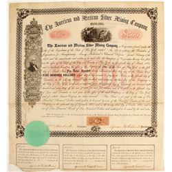 American & Mexican Silver Mining Company $500 Bond
