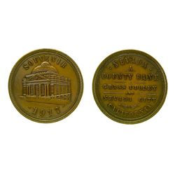 1917 Pictorial Nevada County Bank Souvenir Token