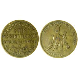 Clark County Fair Token, Springfield, Ohio