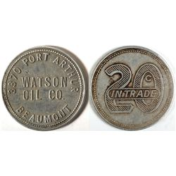 Watson Oil Co. Token, Beaumont, TX