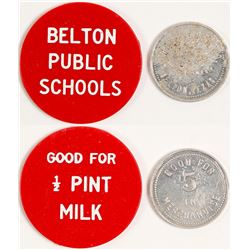 Thos. A Cook and Public School Token, Belton, TX