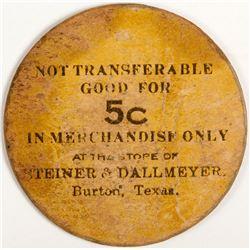 Steiner & Dallmeyer Token, Burton, TX