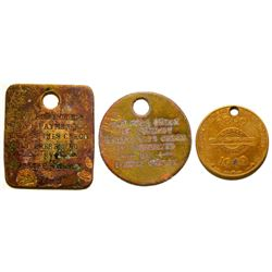 El Paso Smelting Works, TX Token  & 1 Brass Medal