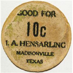 A. Hensarling Token, Madisonville, TX
