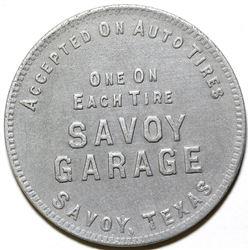 Savoy Garage Token, Savoy, TX
