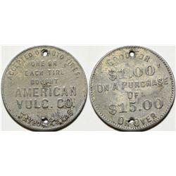 American Vulc. Co. Token, Taylor, TX