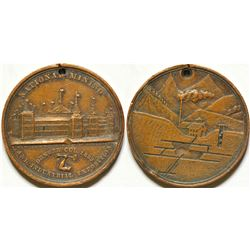 National Mining & Industrial Exposition Medal, Denver, CO 1882