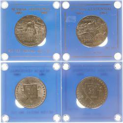 Nevada Centennial Silver Medals
