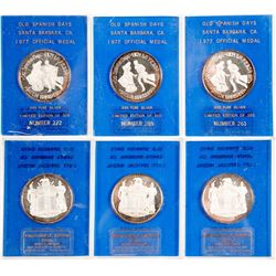 Old Spanish Days Silver Medals