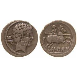 Romano-Celtiberian Drachm from Osca