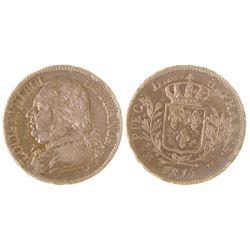 Louis XVIII Five Franc Silver