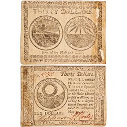 Rare Continental Currency: Thirty Dollar Note