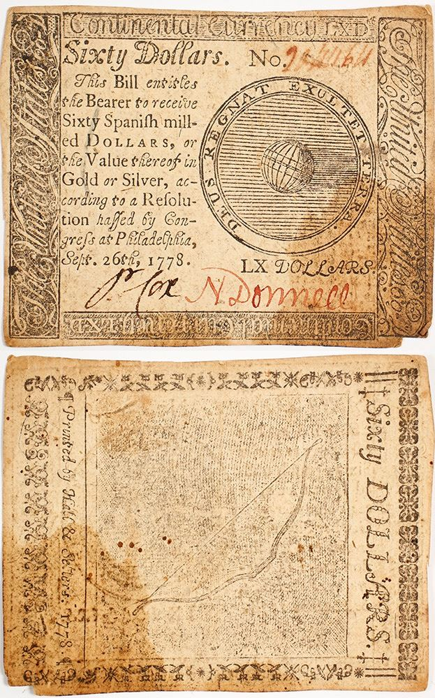 Continental Currency: Sixty Dollar Note
