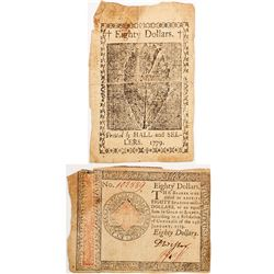 Continental Currency: Eighty Dollar Note