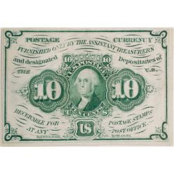 10 Cents First Issue Fractional Currency
