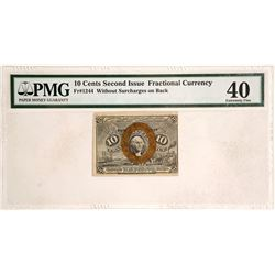 10 Cents Second Issue Fractional Currency