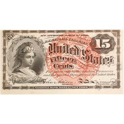 15 Cents Fourth Issue Fractional Currency