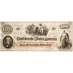Confederate $100 Bill