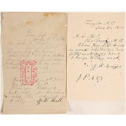 Two Pieces of 1890s Arizona Mormon Scrip