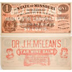 $1 Advertising Note Dr. J. H. McLean's Liver Balm