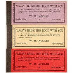 Three Santa Rita, New Mexico Mining Scrip Booklets