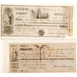Two 1850s  Mobile Exchanges