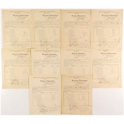 Certificates of Destruction of Mutilated Notes