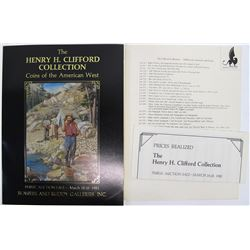 Henry Clifford Collection, Bowers and Ruddy Catalog and Prices Realized