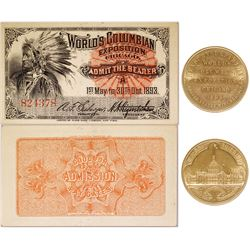 Columbian Exposition So Called Dollar & Admission Ticket