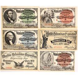 World's Columbian Exposition Tickets