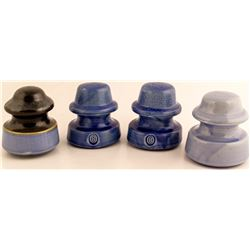 4 Cobalt Ceramic Insulators