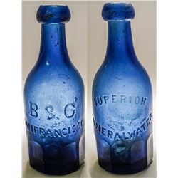 B & G Mineral Water Bottle, San Francisco