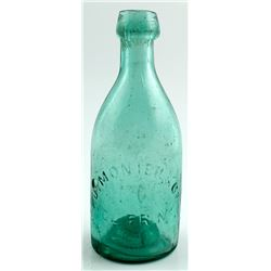 Pontiled California Gold Rush Soda: J . Monier & Co., San Francisco