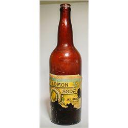 Jas. Roberts Lemon Soda Bottle, Tonopah, Nevada